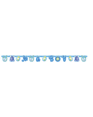 It's a boy girland - Plavi Clothesline Baby Shower