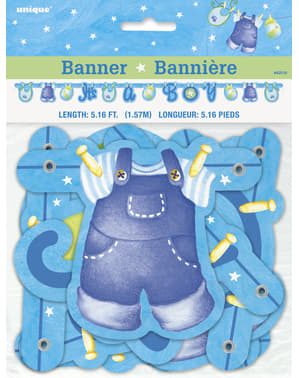 Banner To chłopiec - Clothesline Baby Shower