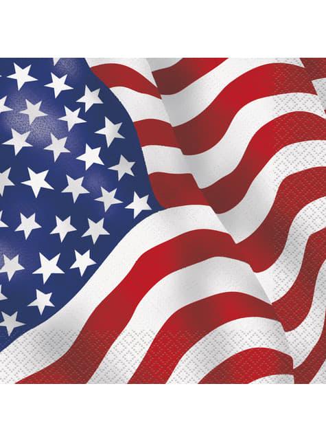 16 Serviettes en papier - fête États-Unis