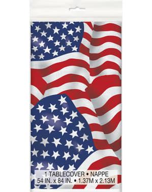 USA Flagge Plastiktischdecke - American Party