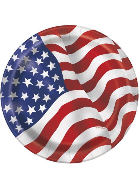 8 platos pequeños (18 cm) - Fiesta Estados Unidos