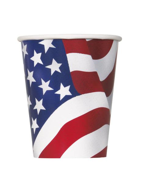 Zestaw 8 kubków - USA Party
