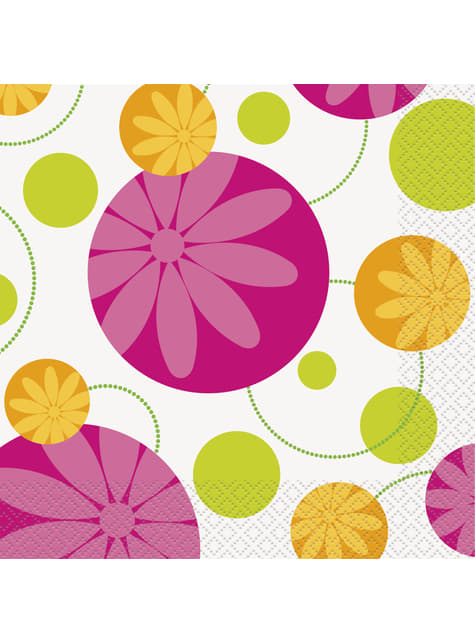 16 grandes Serviettes en papier - Summer Flower