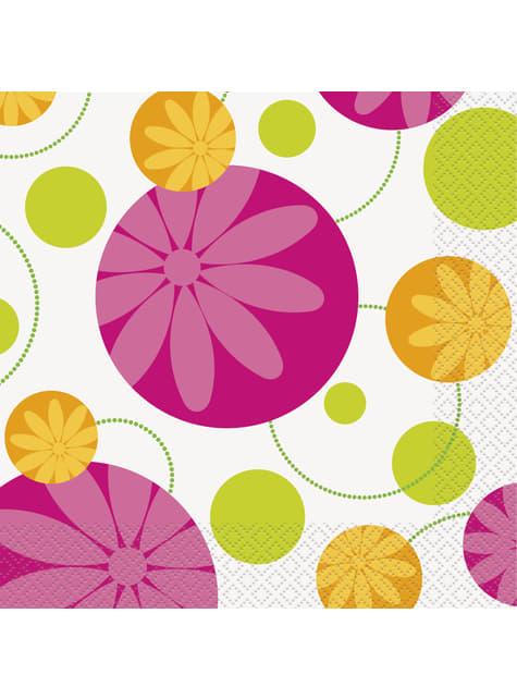 16 servilletas (33x33 cm) - Summer Flower