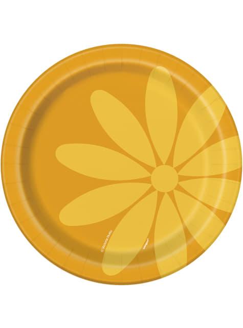 8 platos pequeños (18 cm) - Summer Flower