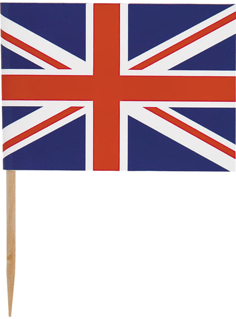 30 toppers decorativos con la bandera británica - Best of British