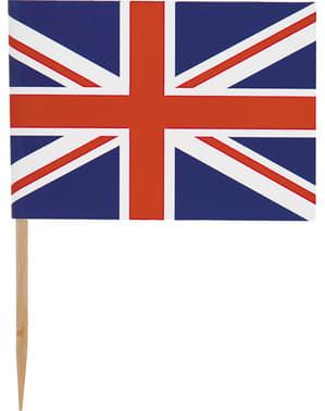 סט 30 קיסמים עם הדגל הבריטי - המיטב הבריטי