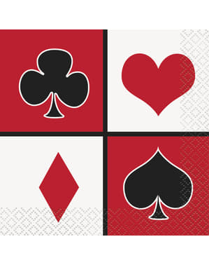 16 small napking (13x13 cm) - Casino Party
