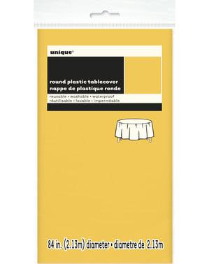 Nappe ronde jaune - Gamme couleur unie
