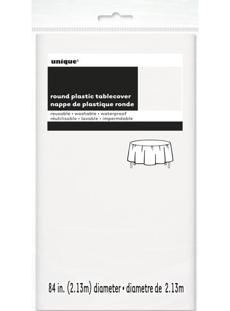 Mantel redondo blanco - Línea Colores Básicos