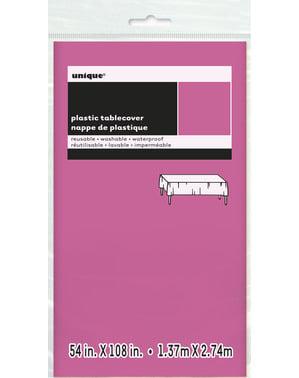 Iso kirkkaan pinkki pöytäliina - Perusvärilinja