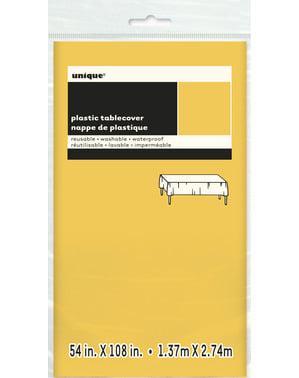 Groot geel tafelkleed - Basis Kleuren Lijn