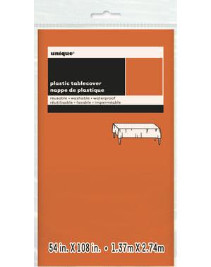Groot oranje tafelkleed - Basis Kleuren Lijn