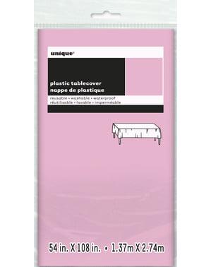 Groot roze tafelkleed - Basis Kleuren Lijn