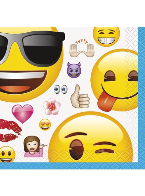 16 petites serviettes émoticône - Emoji