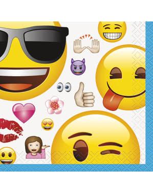 16 petites Serviettes en papier émoticône - Emoji