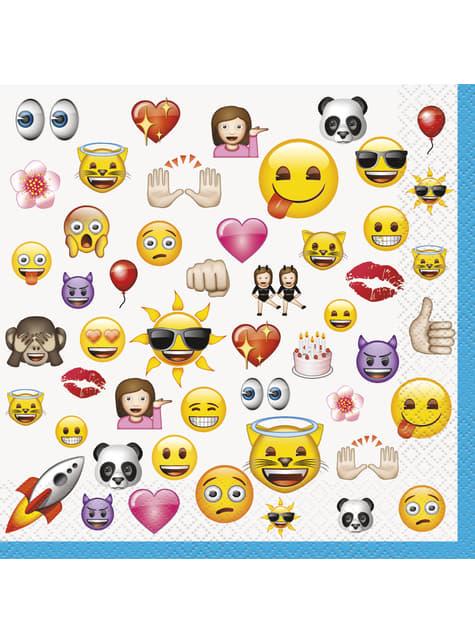 Set of 16 big emoticons napkings - Emoji