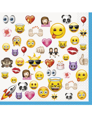 Set of 16 big emoticons napkings - Emoji