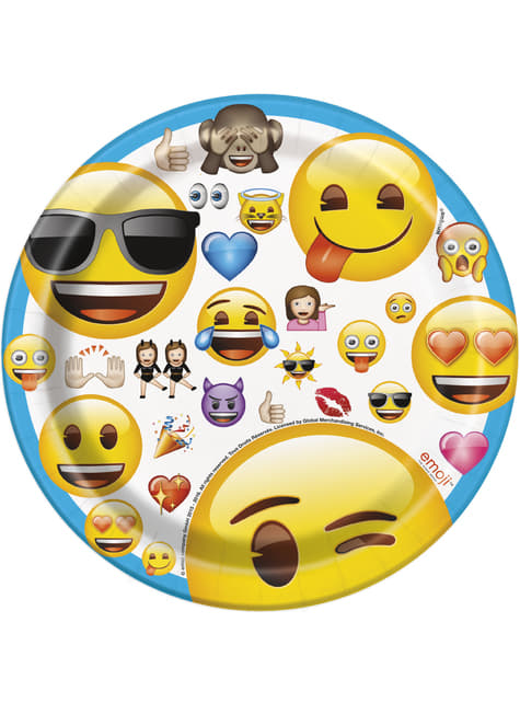 Set de 8 platos de postre de emoticonos - Emoji