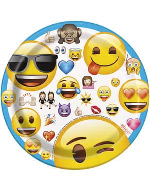 8 assiettes à dessert de Émoticône - Emoji