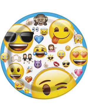 8 emoticons dessert plates - Emoji