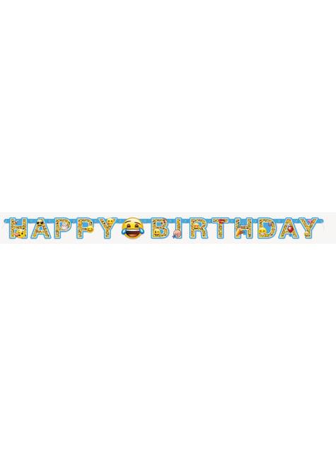 Guirnalda Happy Birthday Emoticonos - Emoji