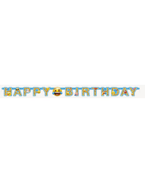 Happy Birthday Emoticons garland - Emoji