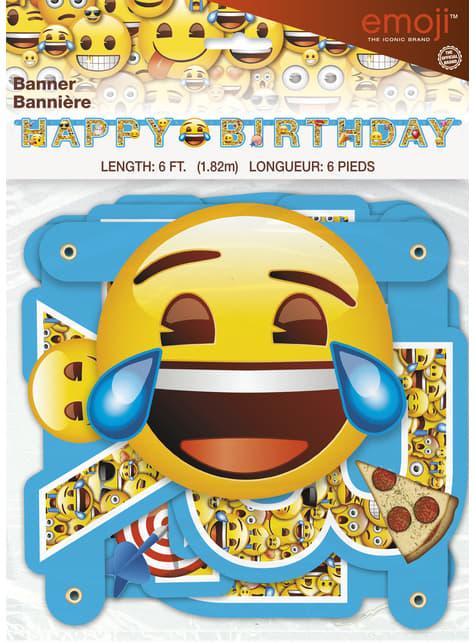 Guirnalda Happy Birthday Emoticonos - Emoji - para tus fiestas