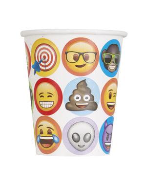8 copos de emoticons - Emoji
