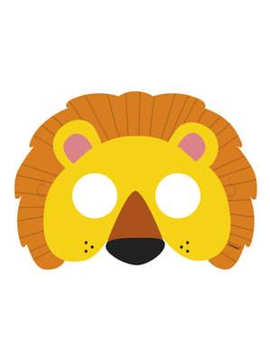 Sæt af 8 masker - Animal Jungle