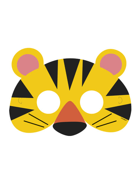 8 antifaces - Animal Jungle - barato