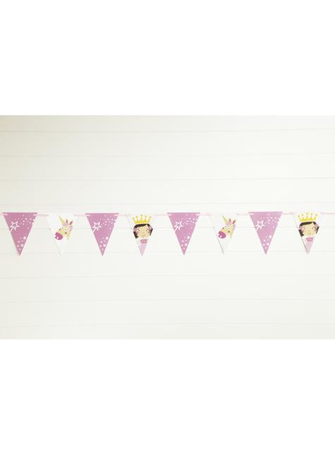 Guirnalda de banderines de Unicornio Rosa- Magical Unicorn  - para tus fiestas