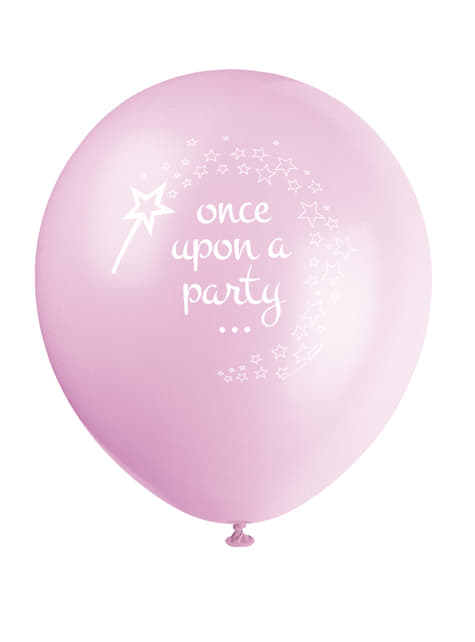 8 globos de Unicornio rosa (30 cm) - Magical Unicorn