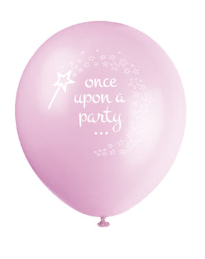 8 globos de Unicornio rosa (30 cm) - Magical Unicorn