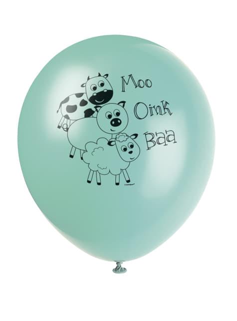 8 globos (30 cm) - Farmyard Party