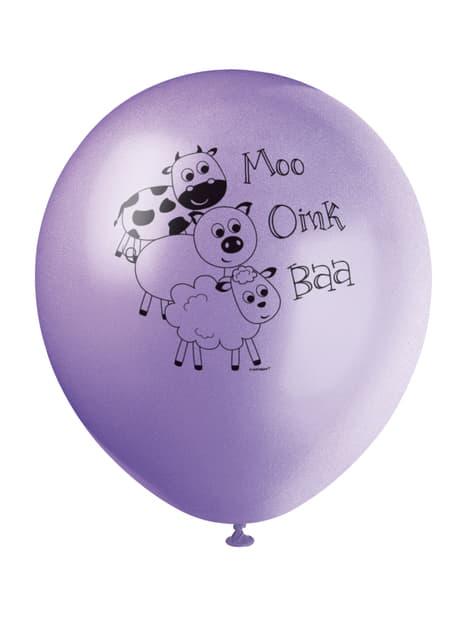 8 globos (30 cm) - Farmyard Party - para tus fiestas