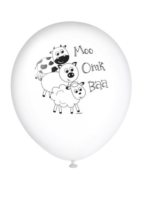 8 globos (30 cm) - Farmyard Party - barato