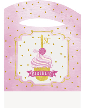 Set 1º anniversaire rose et doré