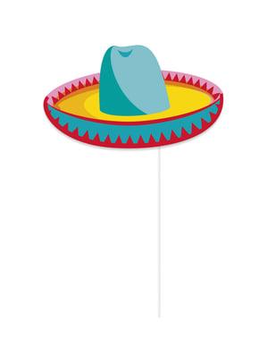 Sæt af 10 stk photocall tilbehør med mexicanske detaljer - festivity