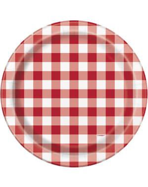 8 platos de BBQ (23 cm) - Picnic