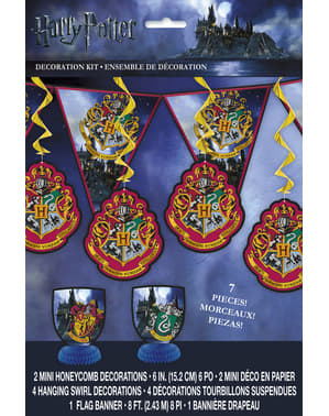Kit de Décoration fête Maisons Poudlard - Harry Potter