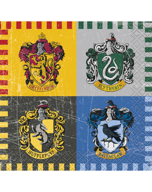 17 Μικρές Χαρτοπετσέτες Harry Potter - Hogwarts Houses