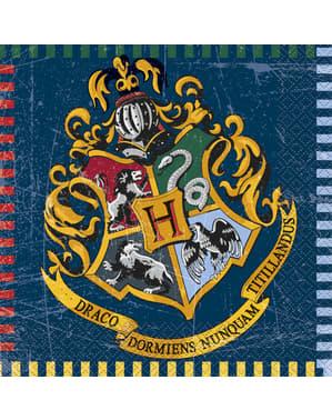 Sett med 16 Galtvort Husene servietter - Harry Potter