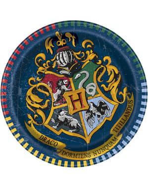 8 desserttallrikar Hogwarts elevhem (18 cm) - Harry Potter