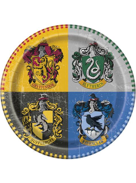 8 platos grandes Harry Potter (23cm) - Hogwarts Houses