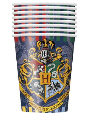 Sada 8 pohárov Rokfort - Harry Potter