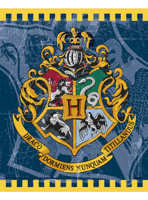 9 sachets cadeaux Maison de Poudlard - Harry Potter