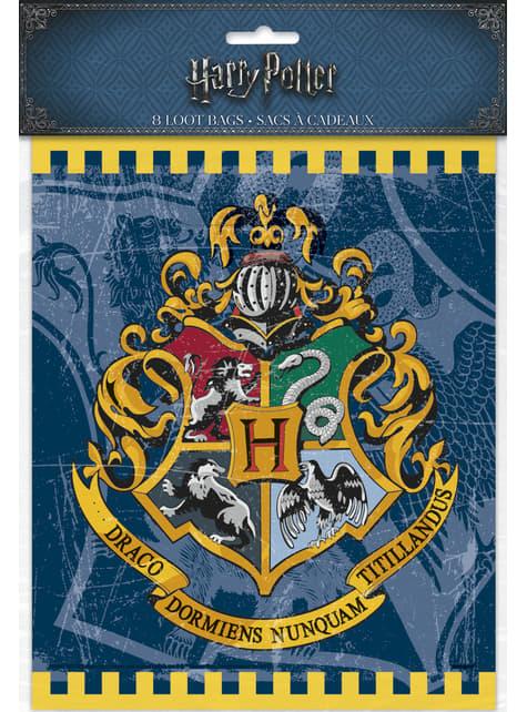 Conjunto de 8 sacos de presente Casas de Hogwarts - Harry Potter