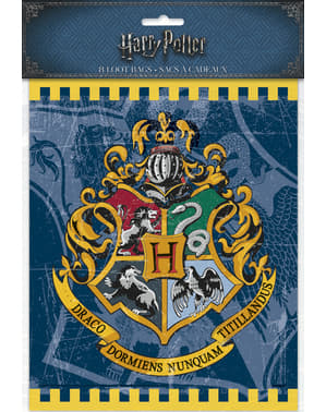 8 Hogwarts Afdelingen cadeau tasjes - Harry Potter