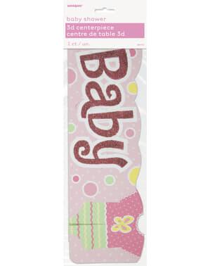 Pinkki pöytäkoriste - Baby Shower